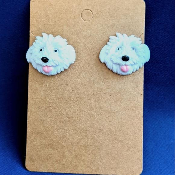 Sheepdog Stud Earrings